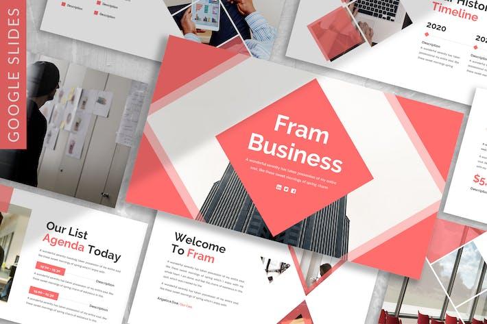 Thumbnail for Fram - Business Google Slide Template