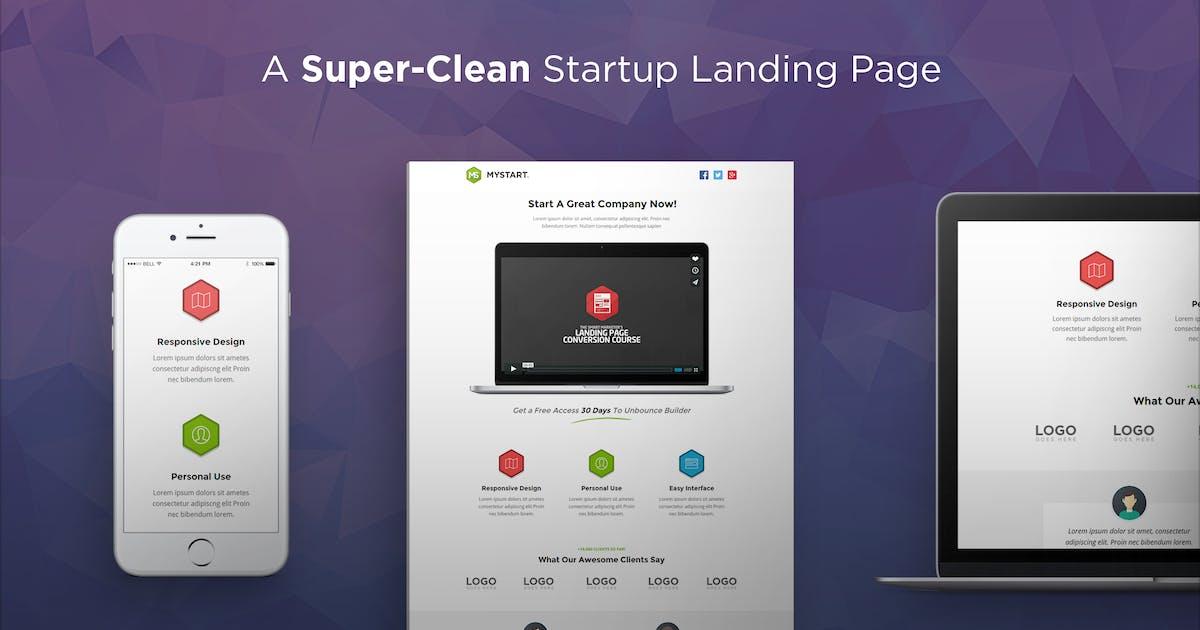 Download MyStart - Startup Unbounce Landing Page by PixFort