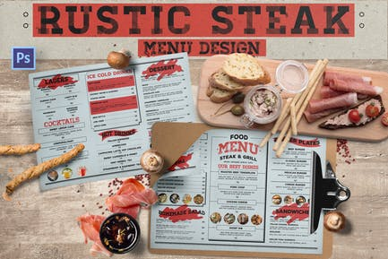 Rustikales Steakmenü