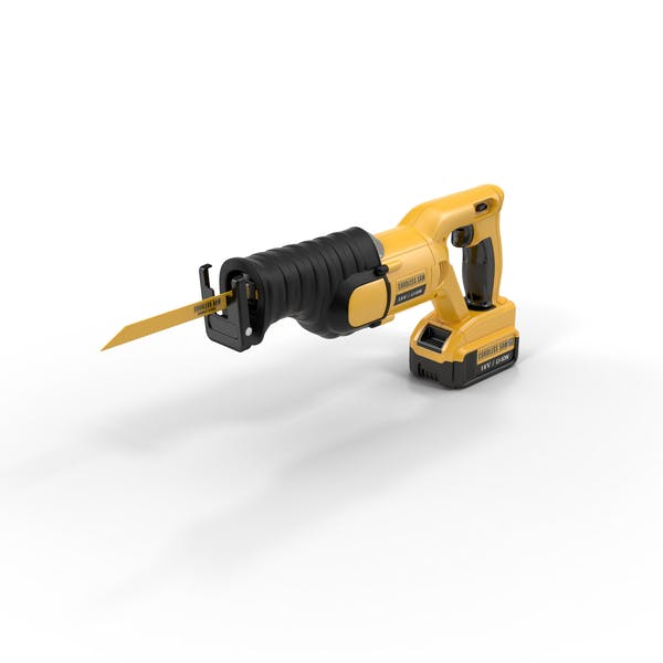 Cordless Reciprocating Saw by PixelSquid360 on Envato Elements