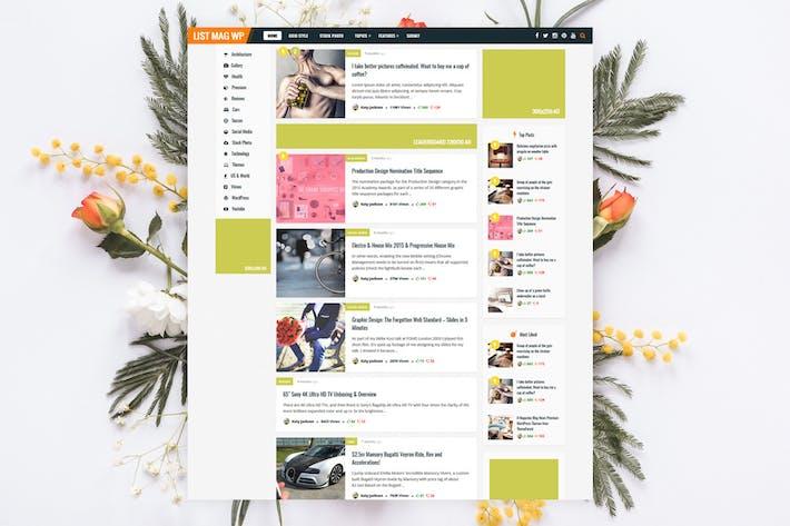 Thumbnail for Lista Mag WP - Noticias personales/Tema de la revista
