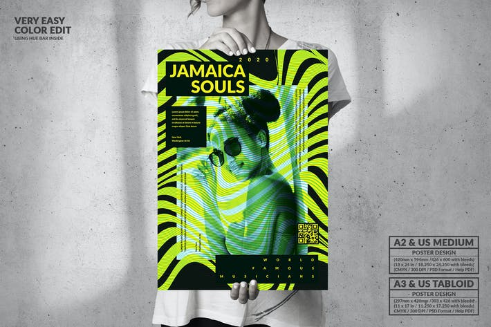 Thumbnail for Jamaica Souls Event  - Big Music Poster Design