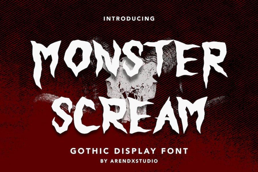 Monster Scream - Ghotic Display Font