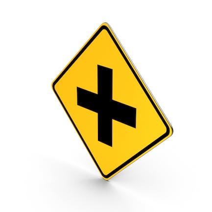 Cross Roads Road Sign