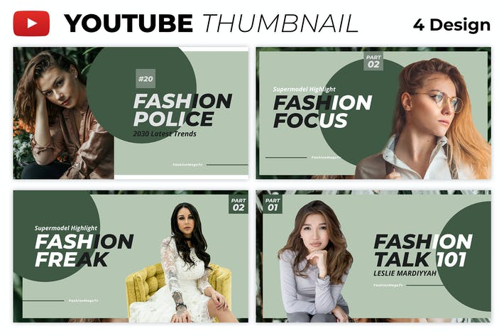 Fashion Youtube Thumbnail Cover Banner Template