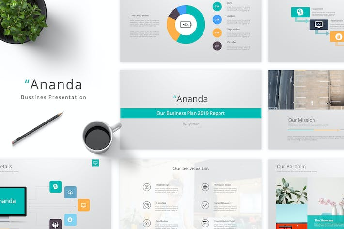 Thumbnail for Ananda - Business Google Slides Template