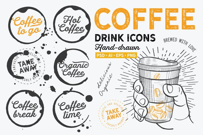 Thumbnail for Coffee To Go Hand-Drawn Graphic