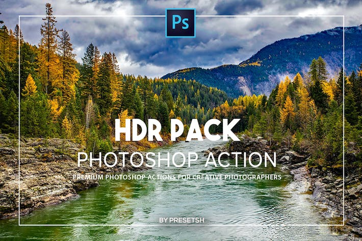 Thumbnail for HDR Photoshop Actions