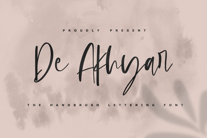Thumbnail for De Akhar - The Handbrush Lettering Font