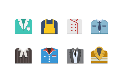 8 Profession Outfit Icons