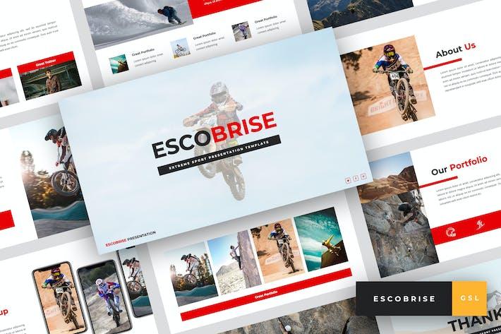 Thumbnail for Escobrise - Extreme Sport Google Slides Template