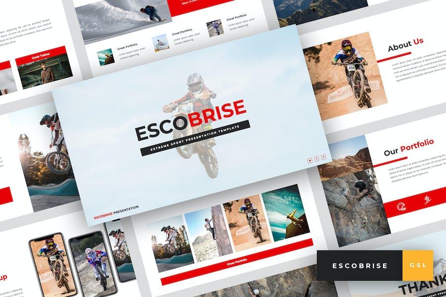 Escobrise - Extreme Sport Google Slides Template