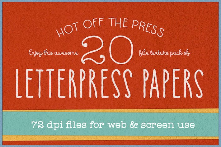 Thumbnail for 72 dpi KD Letterpress Paper Textures Pack