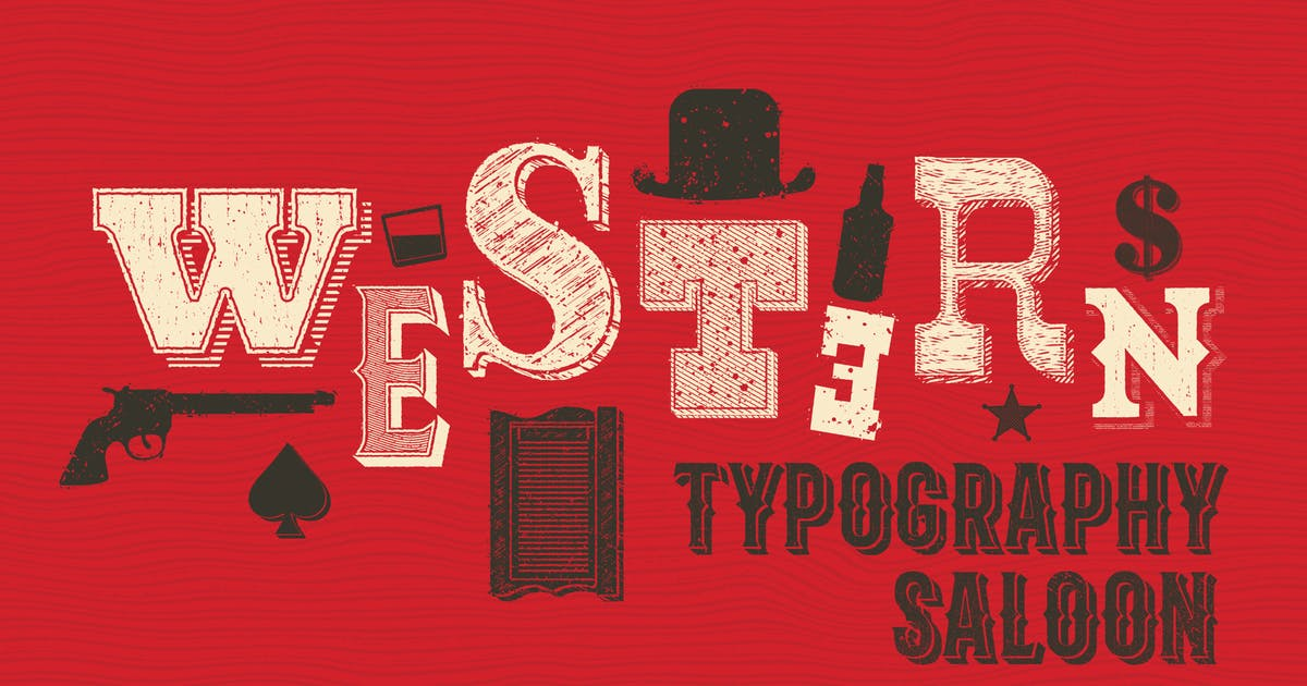 Western Typography Saloon by guerillacraft
