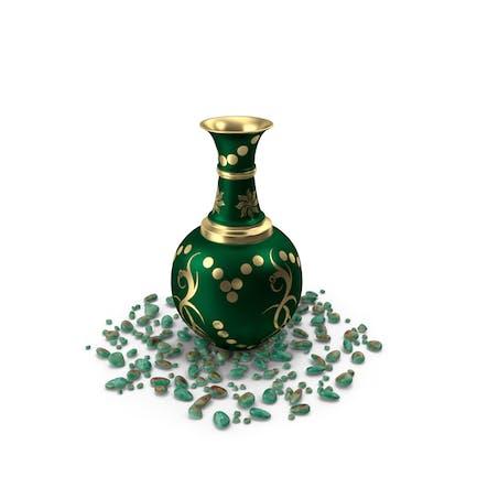 Vase Pot Golden Design