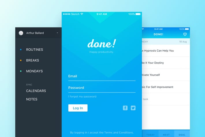 Thumbnail for Done - Todo App Template