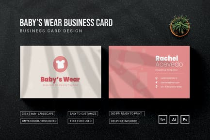Baby's Wear - Business Card