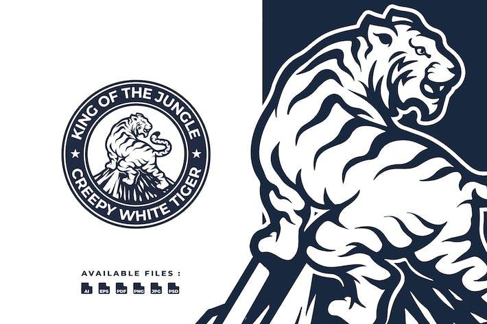 Thumbnail for White Tiger Badge Logo