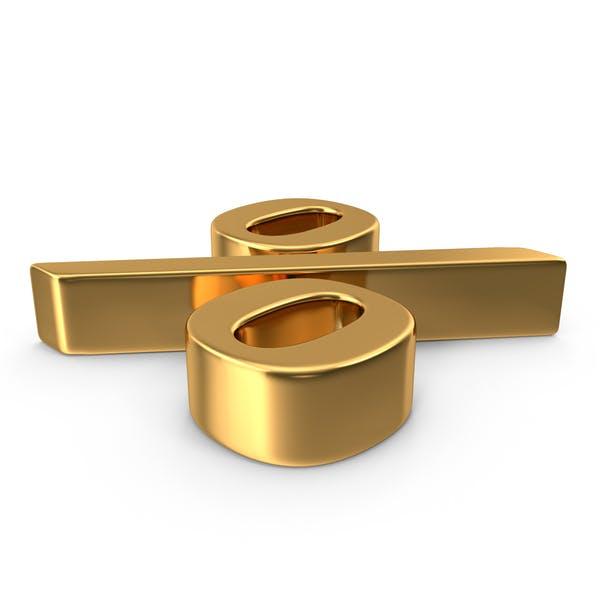 Gold Percentage Sign