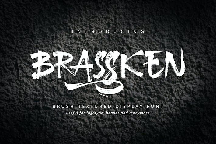 Brassken - Шрифт текстуры кисти