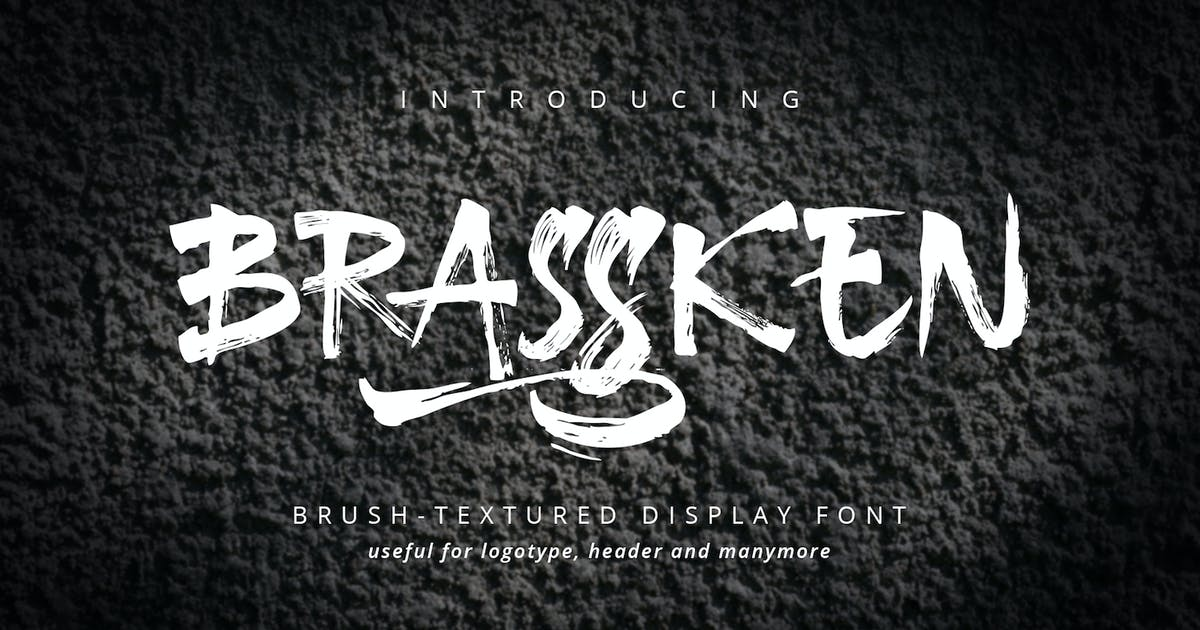 Download Brassken - Brush Texture Font by CocoTemplates