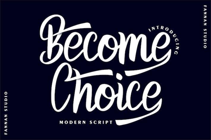 Thumbnail for Become Choice Modern Script