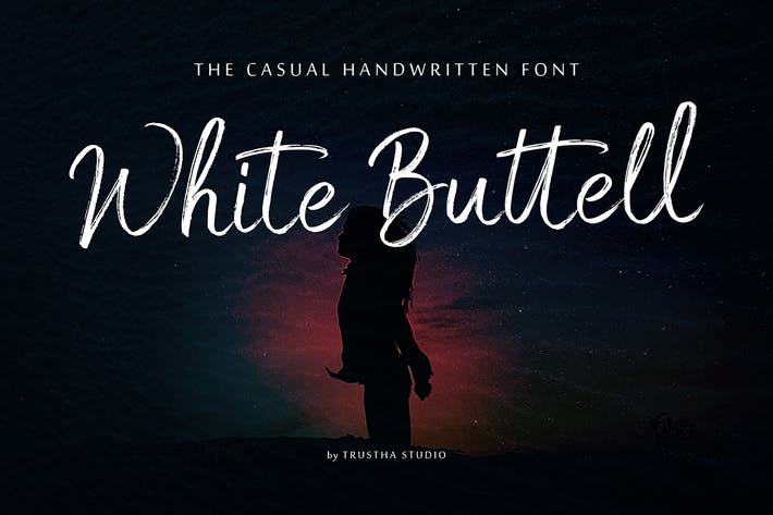 Thumbnail for White Buttell Brush Font