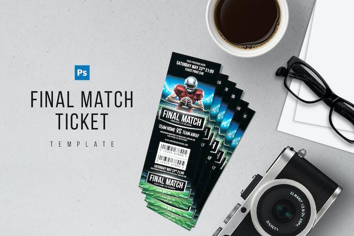 Thumbnail for Final Match Ticket