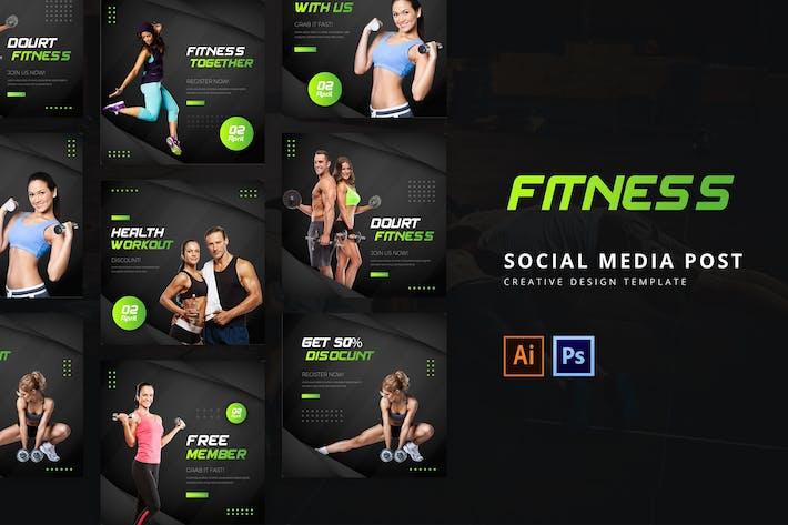 Thumbnail for Modèle de publication sur les médias sociaux Fitness
