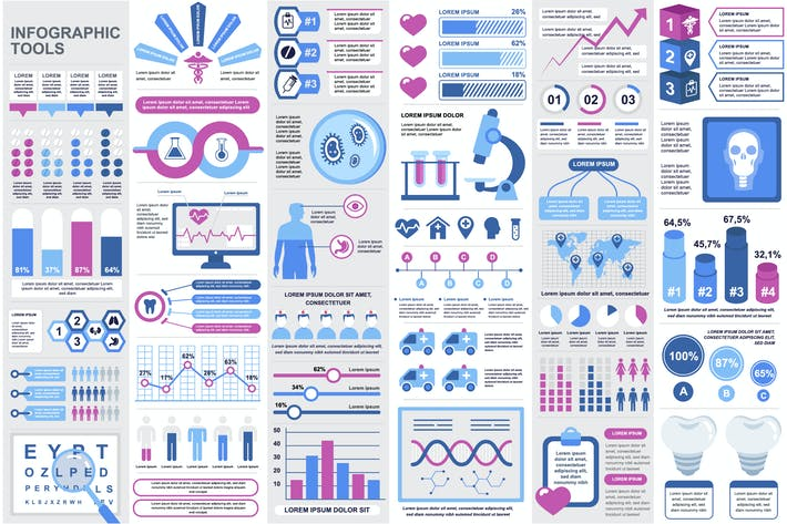 Thumbnail for Medical Infographic Elements Template