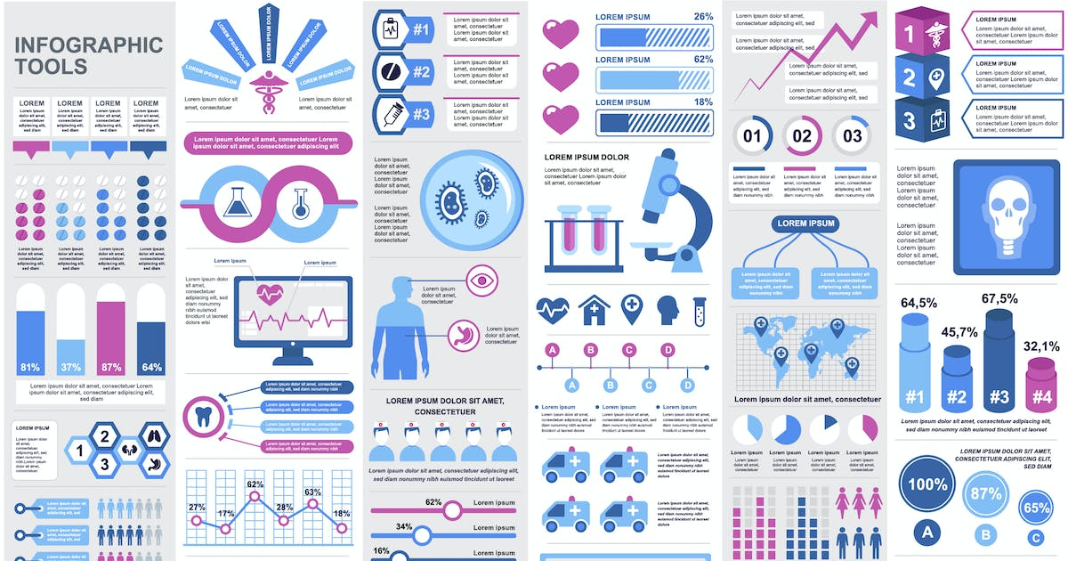 Download Medical Infographic Elements Template by alexdndz
