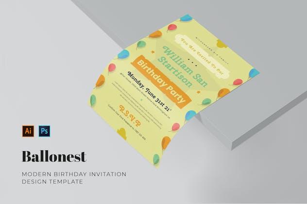 Ballonest Birthday Invitation
