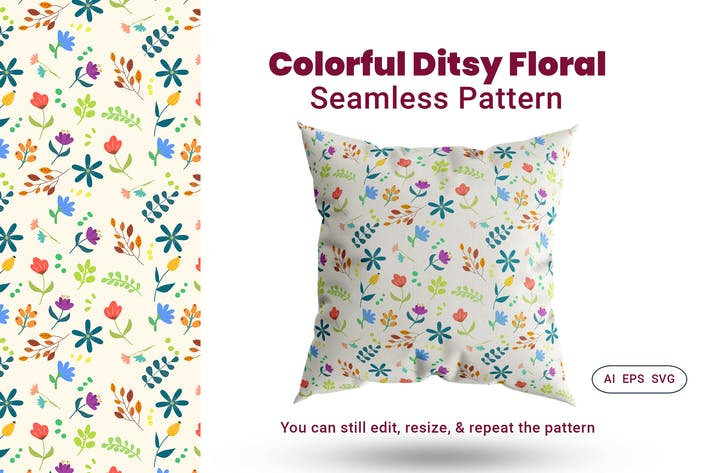 Thumbnail for Seamless Pattern Ditsy Floral