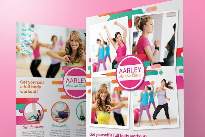 Thumbnail for Women Aerobic / Fitness Flyer