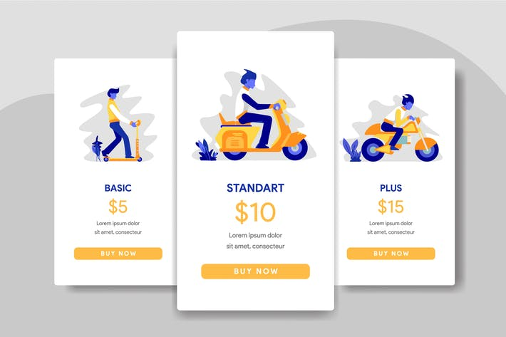 Thumbnail for Pricing Table Comparison with Scooter, Motorcycles