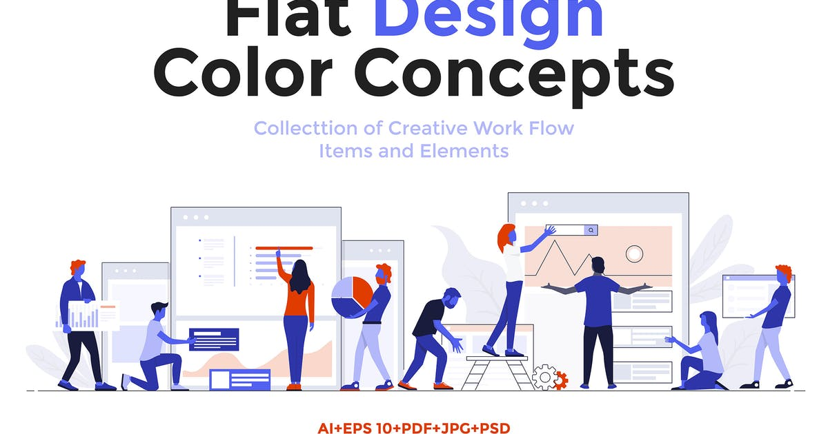 Modern Flat design People and Business concepts by graphics4u