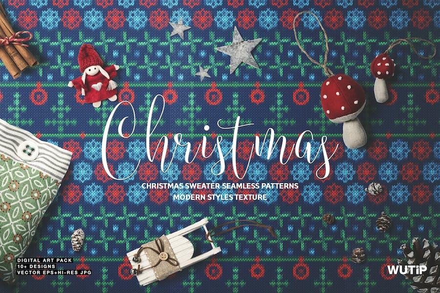 Weihnachten Pullover Nahtlose Muster