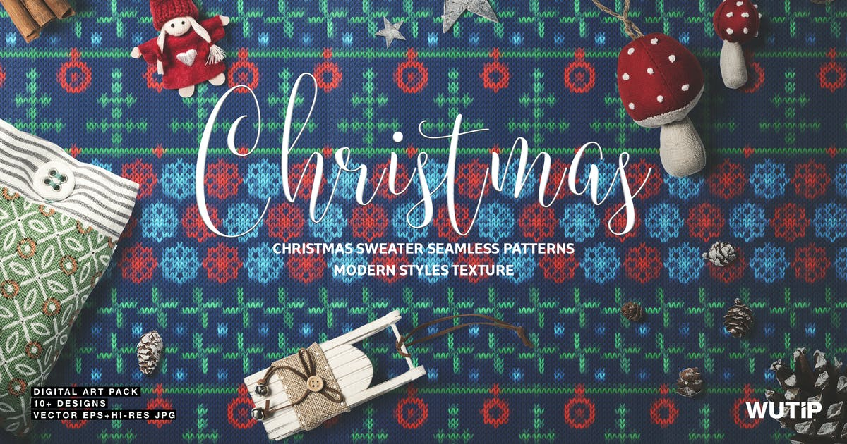 Download Christmas Sweater Seamless Patterns by Wutip