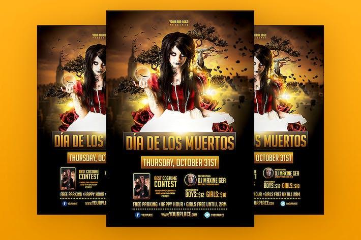 Thumbnail for Dia de los Muertos - Halloween Flyer Template
