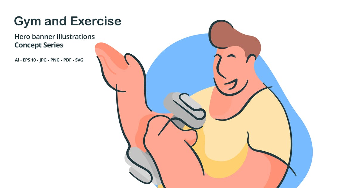 Download Gym Exercise Vector Illustration by roundicons