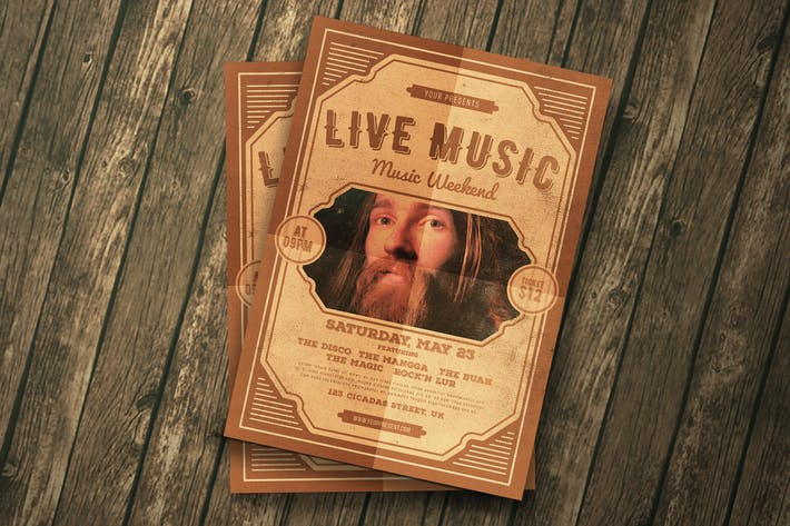 Thumbnail for Live Music Flyer