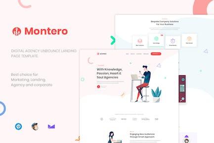 Montero - Digital Agency Unbounce Landing Page