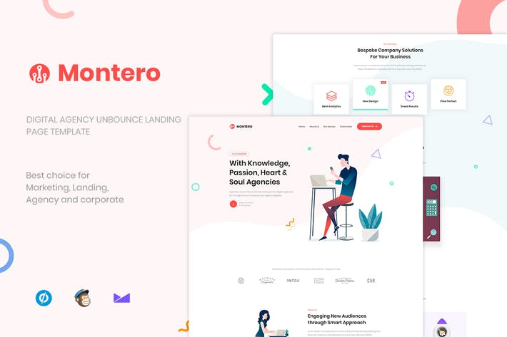 Thumbnail for Montero - Digital Agency Unbounce Landing Page