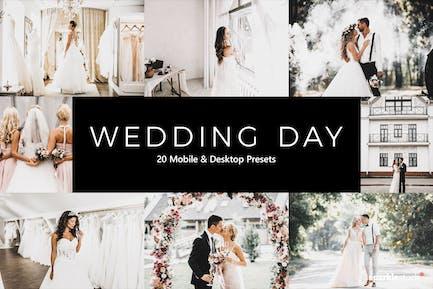 20 Wedding Day Lightroom Presets & LUTs