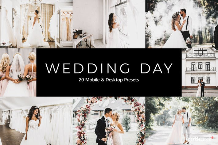 Thumbnail for 20 Wedding Day Lightroom Presets & LUTs