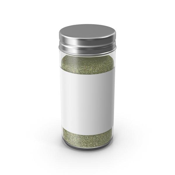 Tarro de especias verde