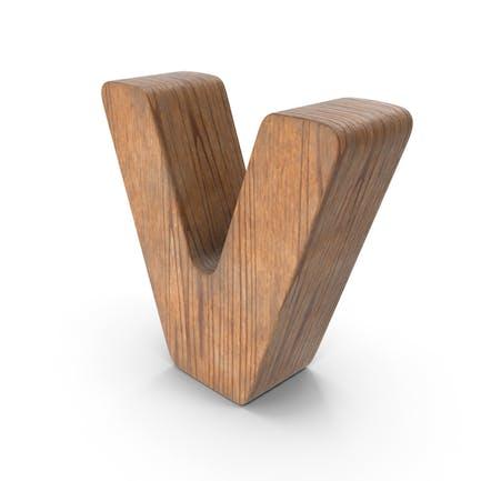 V Letra de madera