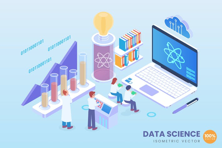 Thumbnail for Isometric Data Science Vector Concept