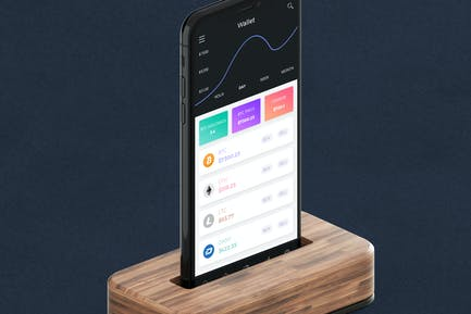 Cryptocurrency Wallet 9 Mobile Ui - H
