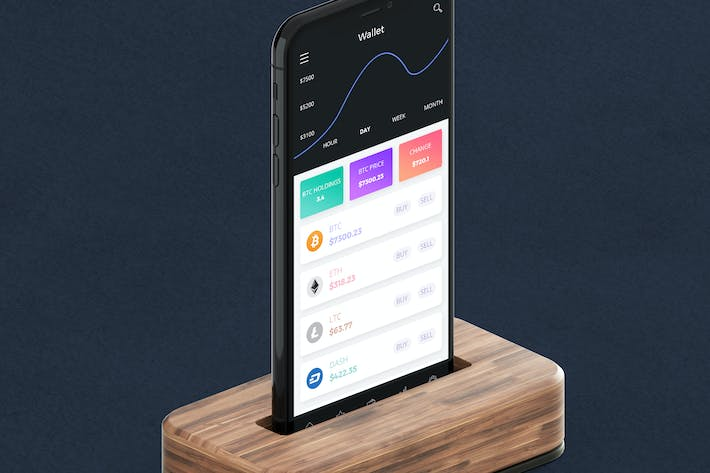 Thumbnail for Cryptocurrency Wallet 9 Mobile Ui - H